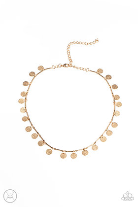 Musically Minimalist Gold Necklace - N1433