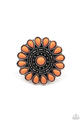 Posy Paradise Orange Ring - R1381