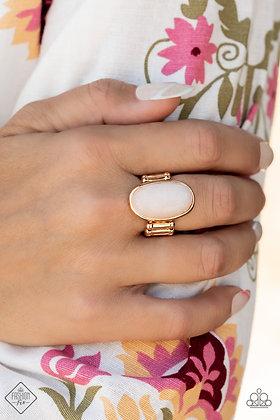 Mystical Mantra Gold Ring- # R1453