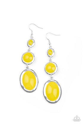 Retro Reality Yellow Earring - E1348