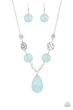 DEW What You Wanna DEW Blue Necklace - N1341