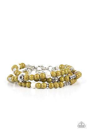 Desert Decorum Green Bracelet - B1399