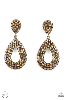 Pack In The Pizzazz Brass Clip-on Earring - E1405