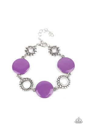 Garden Regalia Purple Bracelet - B1408