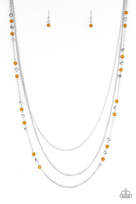 Colorful Cadence Orange Necklace - N1145