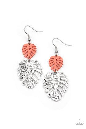 Palm Tree Cabana Orange Earring - E1327
