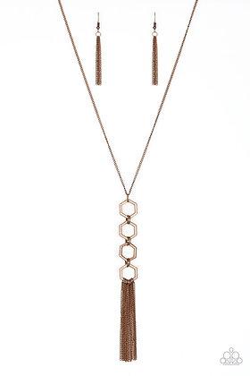 Ready Set Geo - Copper Necklace -N1152