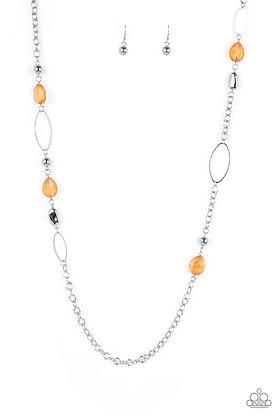 SHEER As Fate Orange Necklace - N1307
