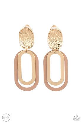 Melrose Mystery Brown Earring - E1346