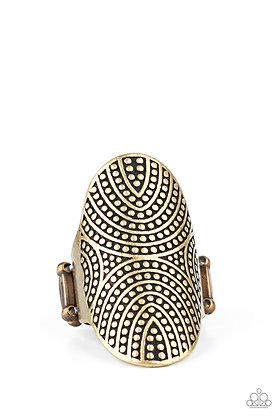 Crop Circles Brass Ring - Item #R1276