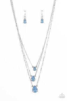 Dewy Drizzle Blue Necklace - N1432