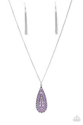 Tiki Tease Purple Necklace - N1113