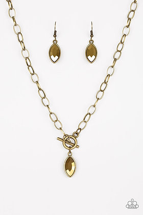 Club Sparkle Brass Necklace - N1355