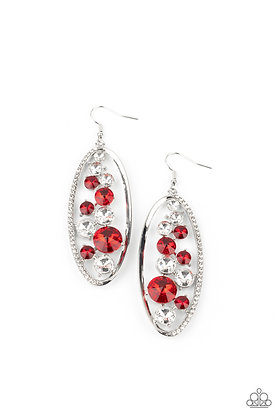 Rock Candy Bubbly - Red Earring - E1389