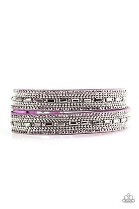 Shimmer and Sass Purple Bracelet - B1340