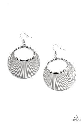 Fan Girl Glam Silver Earring - E1347