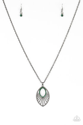 Court Couture Green Necklace -N1159