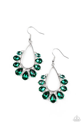 Two Can Play That Game Green Earring - E1395