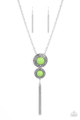 Abstract Artistry Green Necklace - N1343