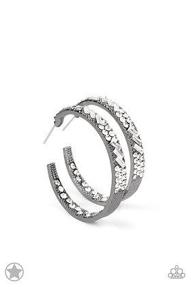 GLITZY By Association Gunmetal Earring - E1435