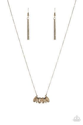 Deco Decadence Brass Necklace - N1151