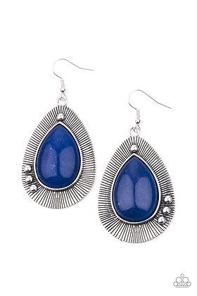Western Fantasy Blue Earring - Item #E1275