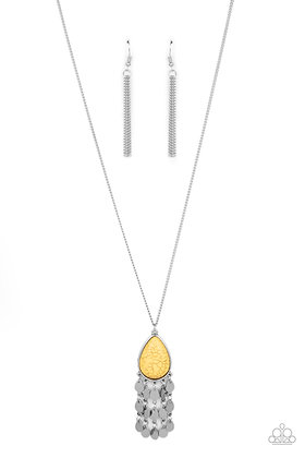 Musically Mojave Yellow Necklace - N1354