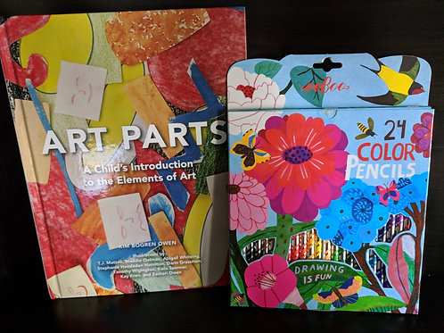 Art Parts: A Child's Introduction to the Elements of Art and Colored Pencil Set