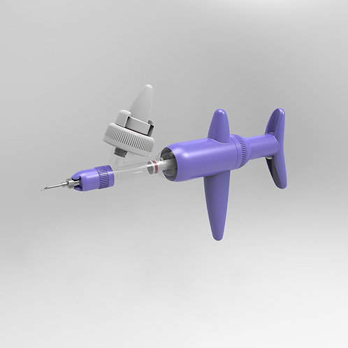 Simcro Compact Purple 2ml Variable Dose Bottle Mounted Injector