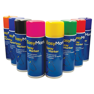 Spray marker colour range