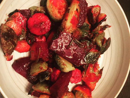 Roasted Root Vegetables with Watercress Pesto