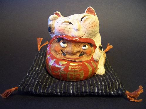 達磨招き猫(大福帳付)