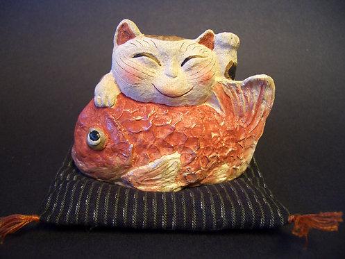 鯛招き猫(大福帳付)