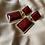 Thumbnail: Wine Stone Statement Earrings
