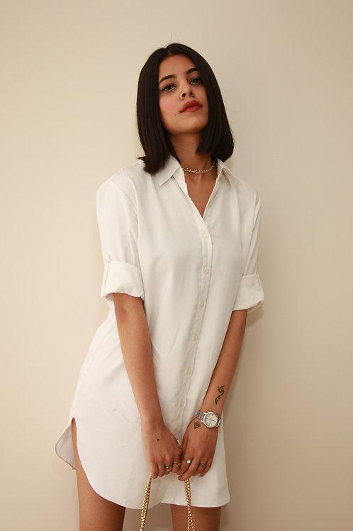 Classic White Collar Dress