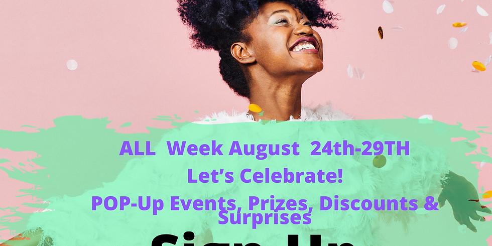 WWLC ANNIVERSARY WEEK ACTIVITIES & POP-UP EVENTS