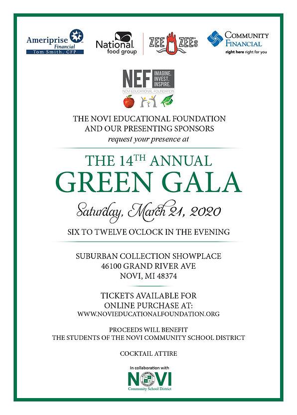 Green Gala 2020 Invitation