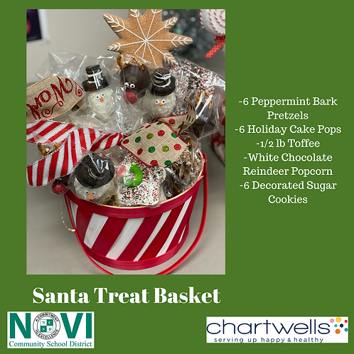 Chartwells : Santa Treat Basket