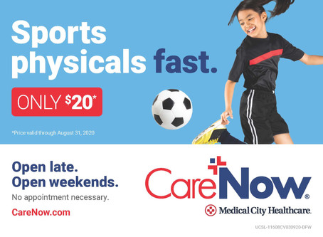 Marching Band Physicals Available at CareNow