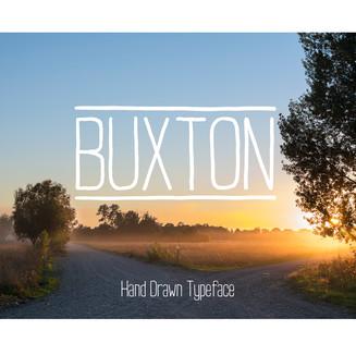 Buxton, handwritten font