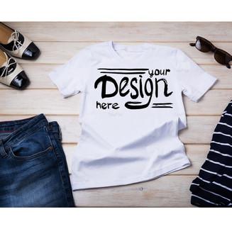 Women's cotton T-shirt French style mockup