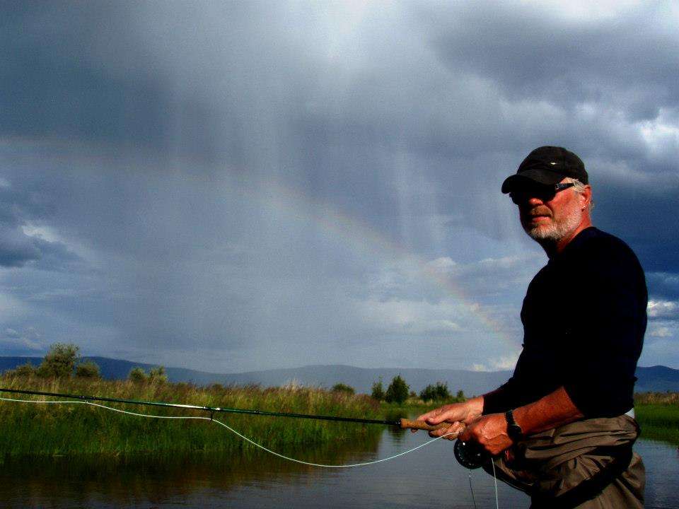 minot flats flyfishin w rainbow
