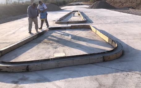 Construcción de rotonda