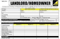 Landlord Gas Cert 1 appliance