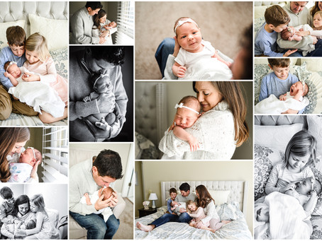 Naperville Lifestyle Newborn Photographer: Welcome Baby Lucy