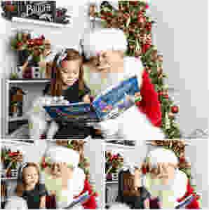 Naperville Santa Photos, Studio Santa Photos, Real bearded Santa