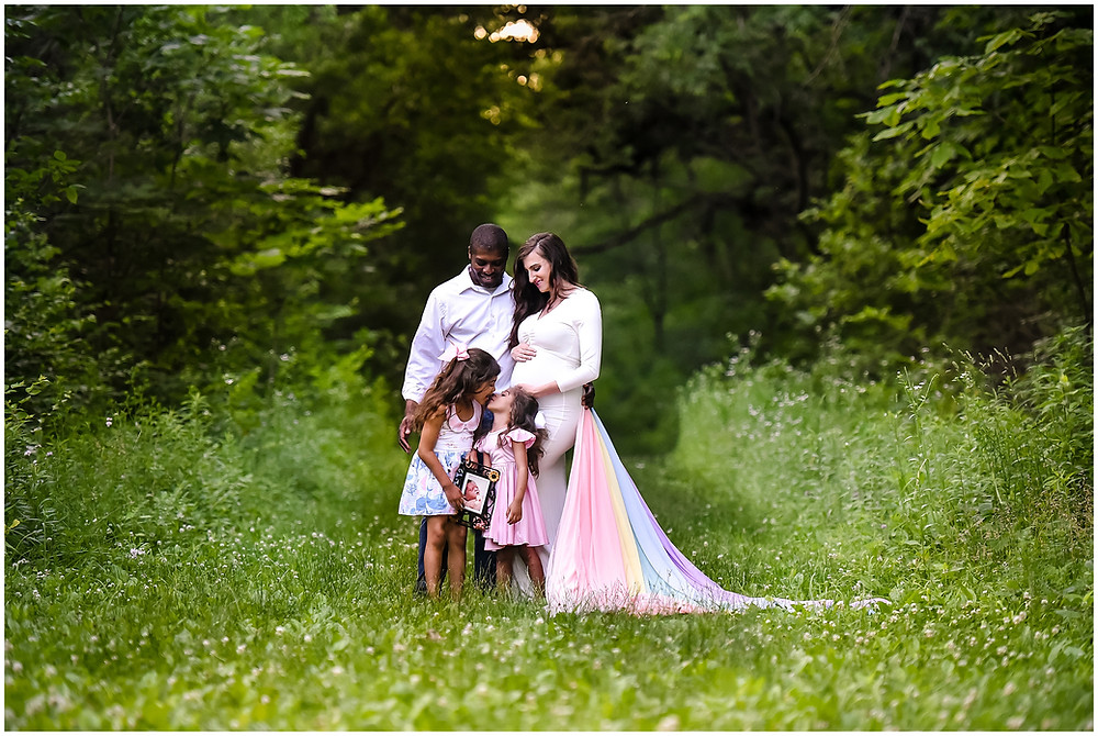 Rainbow Maternity Photos, Lindsay Chan Photography, Naperville Maternity Photographer, Rainbow Train Maternity Photos