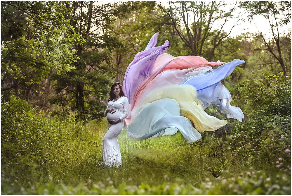 Rainbow Baby Maternity Photos, Lindsay Chan Photography, Naperville Maternity Photographer, Rainbow Maternity Photos