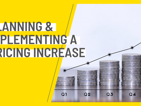 Webinar recording - Planning & Implementing a Pricing Increase