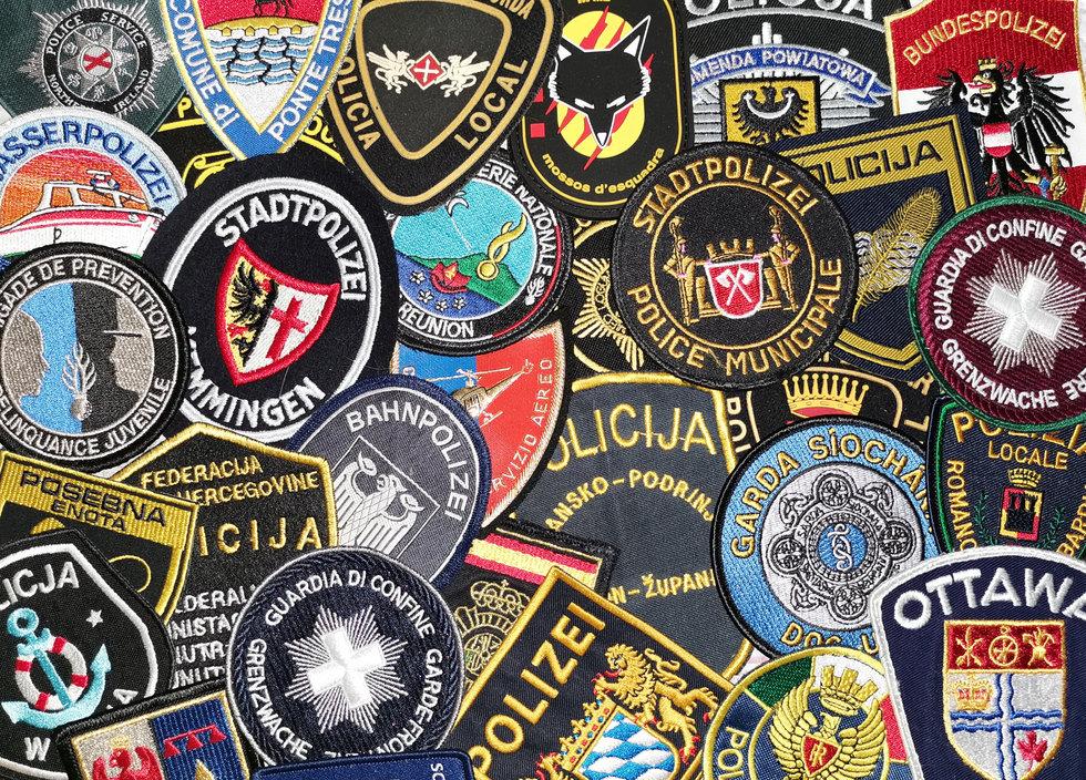 Sammeln und Tauschen Polizeiabzeichen